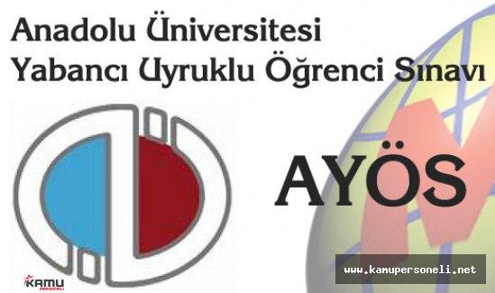 Anadolu Üniversitesi YÖS Giriş Belgeleri Yayımlandı