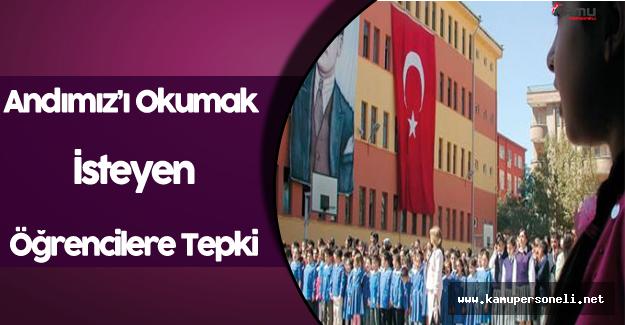 Andımızı Okumak İsteyen Öğrencilere Okul Müdüründen Tepki !