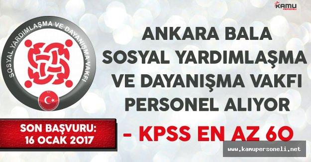 Ankara Bala SYDV Kamu Personeli Alımı Yapıyor