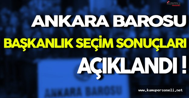 Ankara Barosu Başkanlık Seçim Sonuçları: Hakan Canduran Yeniden Seçildi