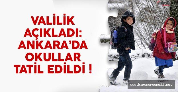 Ankara'da okullar tatil mi? Ankara Valisi son noktayı koydu