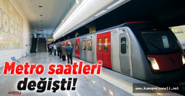 Ankara Metro Sefer Saatleri Değişti