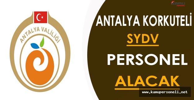Antalya Korkuteli SYDV Personel Alım İlanı