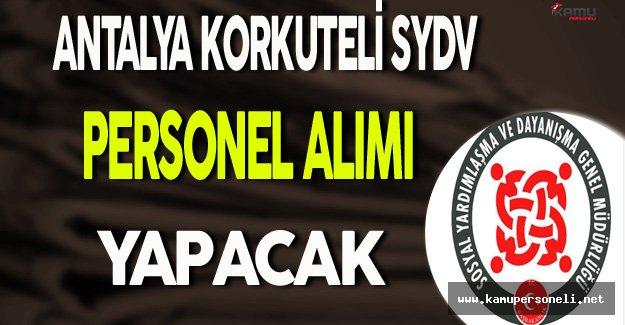 Antalya Korkuteli SYDV Personel Alımı Yapacak