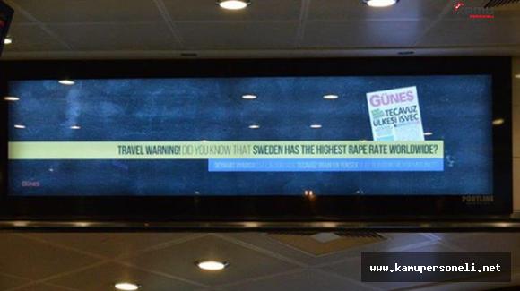 """Atatürk Havalimanı'ndaki """"Seyahat Uyarısı"""" İsveç'te Büyük Ses Getirdi"""