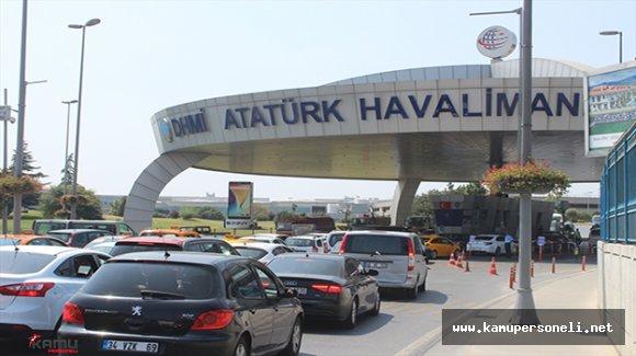Atatürk Havalimanında Asayiş Uygulaması Yoğun Trafiğe Neden Oldu