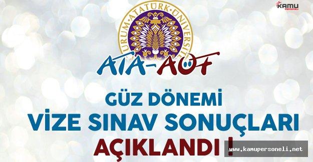 Atatürk Üniversitesi Açık Öğretim Fakültesi (ATA AÖF) Vize Sınav Sonuçları Açıklandı