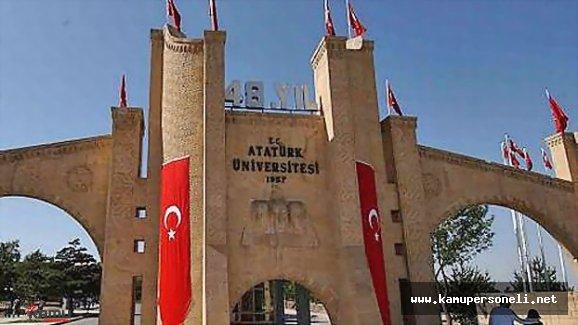 Atatürk Üniversitesi Akademik Personel alımı İlanı