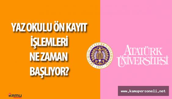 Atatürk Üniversitesi Final Sınavları  Soruları , Cevapları Yorumları ( Yaz Okulu Ön Kayıt İşlemleri Ne Zaman ?)