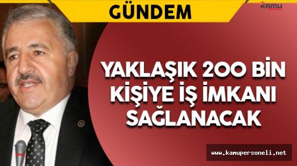 """Bakan Arslan: """"Yaklaşık 200 Bin İstihdam Sağlanacak"""""""