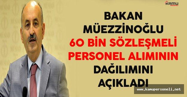 Bakan Müezzinoğlu 60 Bin Sözleşmeli Personel Alımının Dağılımını Açıkladı