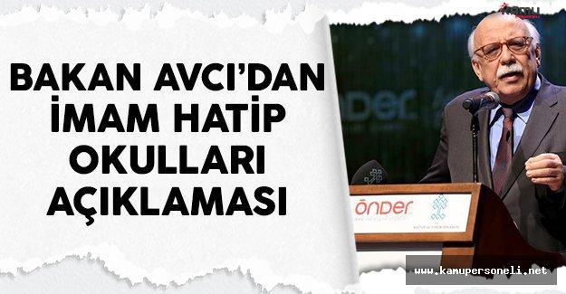 Bakan Nabi Avcı'dan imam hatip okulları açıklaması
