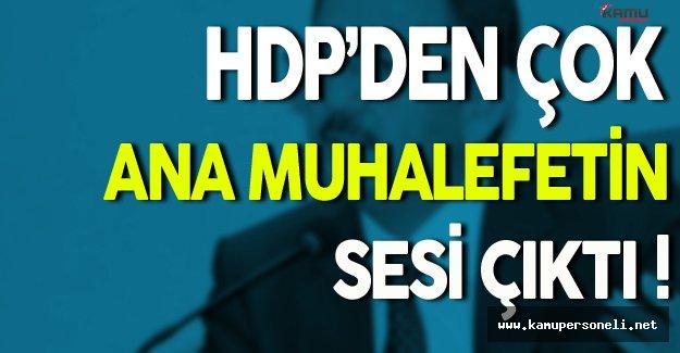 Bakan Özhaseki: HDP'den Çok Ana Muhalefetin Sesi Çıktı