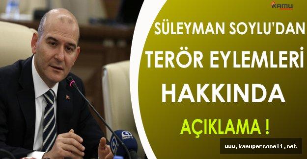 Bakan Soylu'dan Terör Eylemleri Hakkında Önemli Açıklama