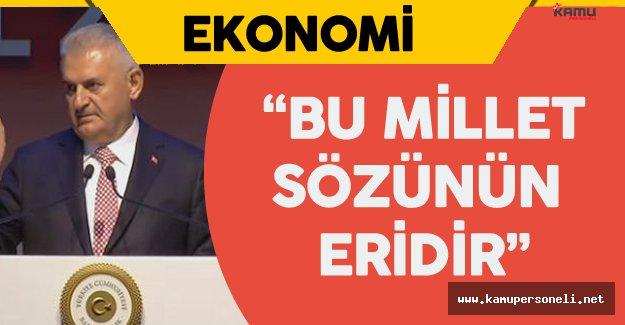 """Başbakan Binali Yıldırım 'dan Bankalara """" Vatandaşa, Millete Güvenin!"""" Çağrısı"""