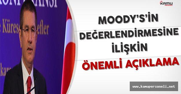 Başbakan Yardımcısı Canikli'den Moody's'in Değerlendirmesine İlişkin Önemli Açıklama