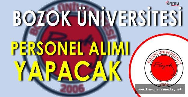 Bozok Üniversitesi Personel Alımı Yapacak