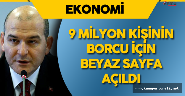 """Çalışma Bakanı : """"9 milyon 50 bin Kişinin Borcu İçin Beyaz Bir Sayfa Açıyoruz."""""""