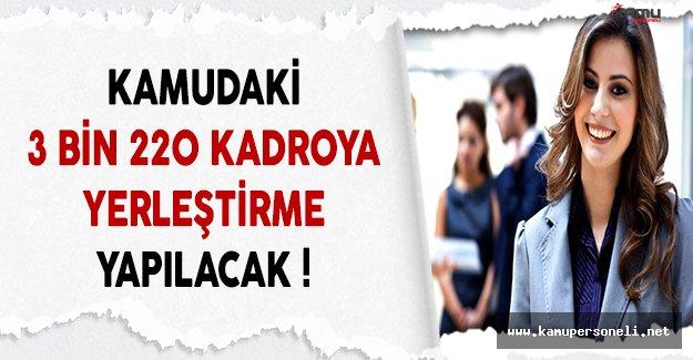 Çalışma Bakanı Müezzinoğlu Kamudaki 3 Bin 220 Kadroya Yerleştirme Yapılacağını Açıkladı !