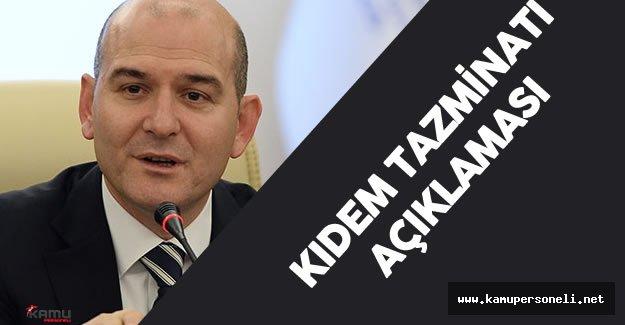 Çalışma Bakanı Süleyman Soylu'dan Son Dakika Kıdem Tazminatı Açıklaması