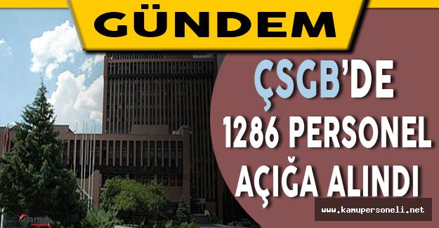 Çalışma ve Sosyal Güvenlik Bakanlığı'nda 1286 Personel Açığa Alındı