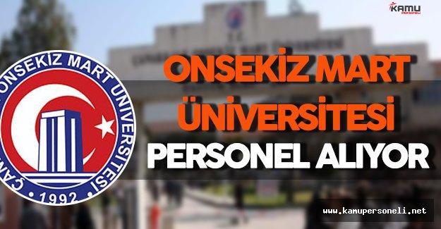 Çanakkale Onsekiz Mart Üniversitesi Personel Alım İlanı