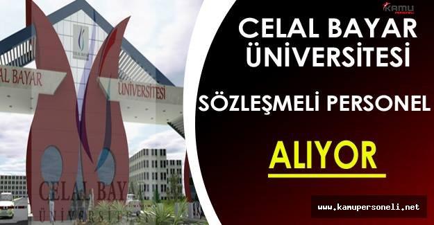 Celal Bayar Üniversitesi Sözleşmeli Personel Alımı