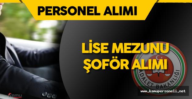 Ceza ve Tevkifevleri Genel Müdürlüğü (CTE)  Lise Mezunu 121 Şoför Alımı Yapacak !