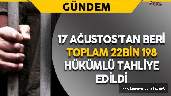 Cezaevlerinden 5 Günde 22 Bin 198 Hükümlü Tahliye Edildi