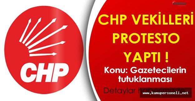 CHP Milletvekillerinden Cumhuriyet Gazetesi Gazetecilerinin Tutuklanmasına Protesto