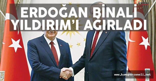 Cumhurbaşkanı Erdoğan Binali Yıldırım'ı Ağırladı