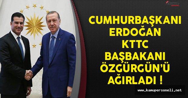 Cumhurbaşkanı Erdoğan KKTC Başbakanı Özgürgün'ü Ağırladı