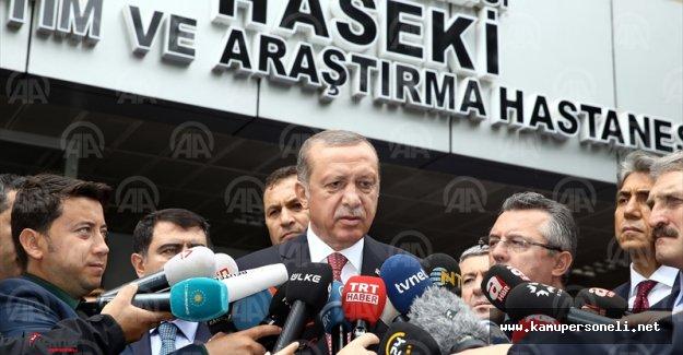 Cumhurbaşkanı Erdoğan Patlamada Yaralananları Ziyaret Etti