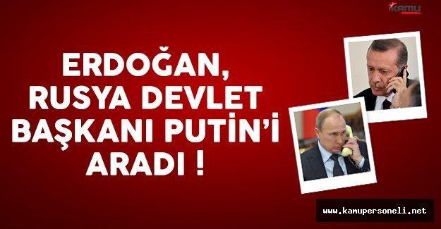 Cumhurbaşkanı Erdoğan, Putin'le görüşme yaptı
