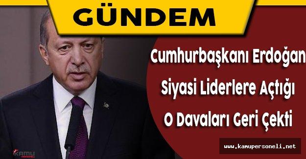 Cumhurbaşkanı Recep Tayyip Erdoğan Tazminat Davalarını Geri Çekti