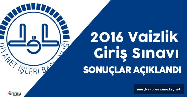 DİB 2016 Yılı Vaizlik Giriş Sınavı Sonuçları Açıklandı