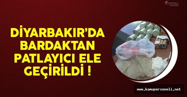 Diyarbakır'da bardak içine yerleştirilmiş patlayıcı ele geçirildi
