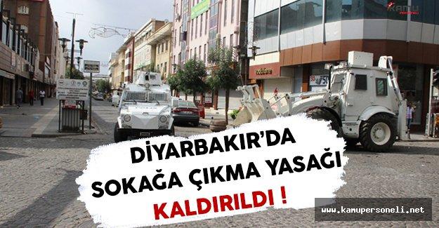Diyarbakır'daki PKK Operasyonlarından Dolayı İlan Edilen Sokağa Çıkma Yasağı Kaldırıldı !