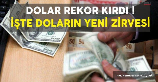 Dolar Rekor Kırdı! İşte Doların Tarihi Zirvesi