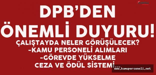 DPB'den Çok Önemli Açıklama! Kamu Personeli Alımları İle İlgili Çalıştay 21 Ekim'de