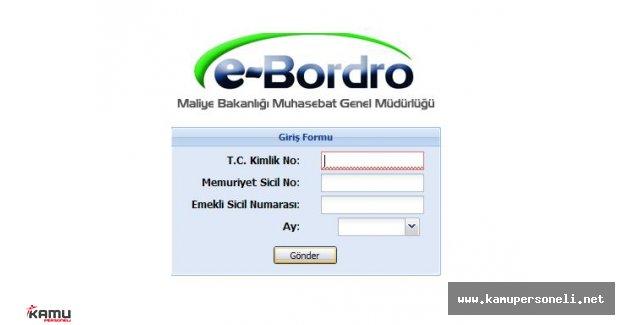 E-Bordro ile Maaş Sorgulama İşlemleri