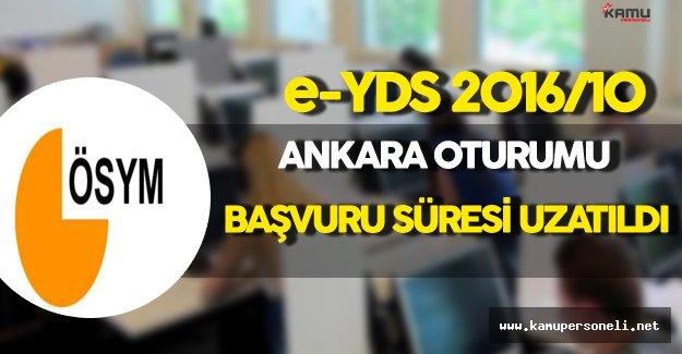 e-YDS 2016/10 Ankara Oturumu İçin Başvuru Süresi Uzatıldı !
