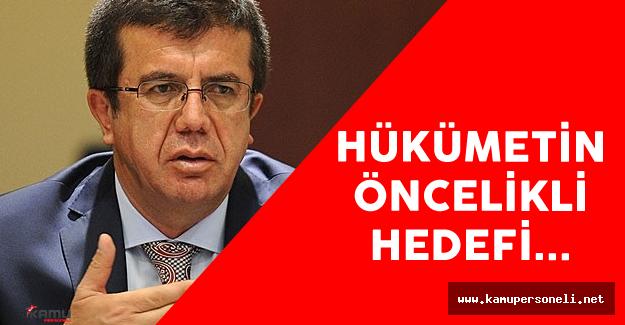 """Ekonomi Bakanı Nihat Zeybekçi : """"Hükümetin Öncelikli Hedefi..."""""""