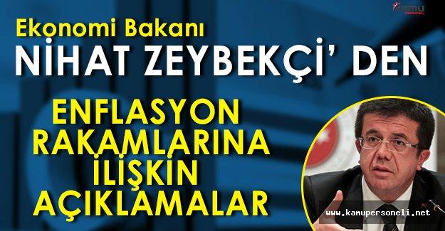 Ekonomi Bakanı Nihat Zeybekçiden Enflasyon Yorumları