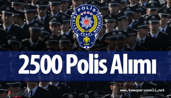 Emniyet Genel Müdürlüğü 2500 Polis Alımı için Başvurularda Sona Geliniyor