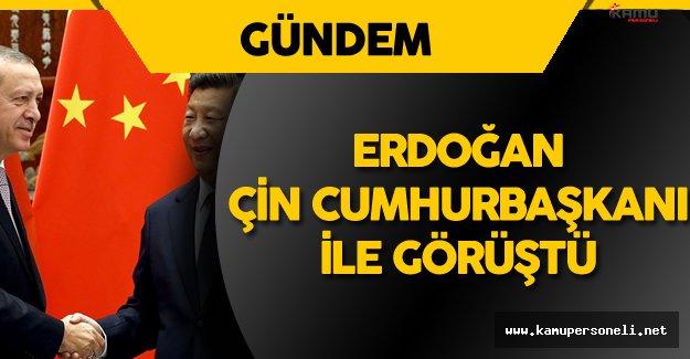 Erdoğan, Çin Cumhurbaşkanı ile Görüştü