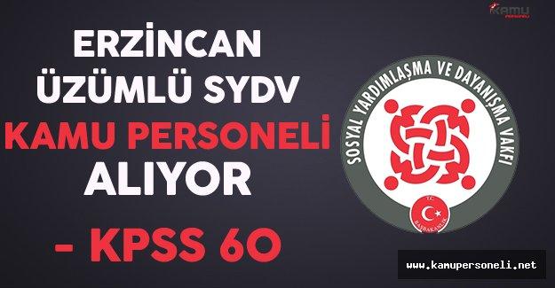 Erzincan Üzümlü SYDV Kamu Personeli Alıyor