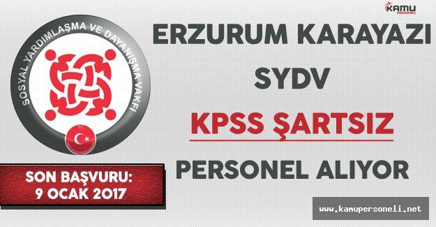 Erzurum Karayazı SYDV Personel Alıyor