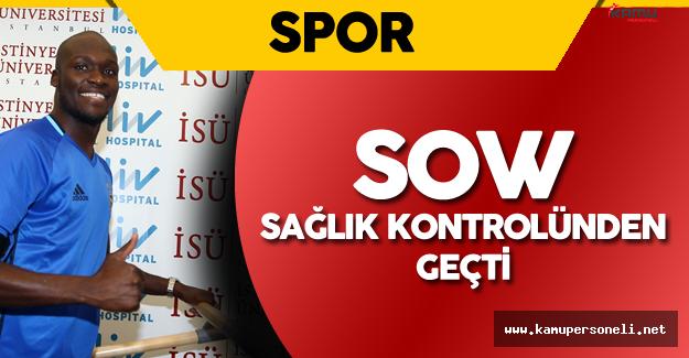 Fenerbahçe'nin 1 Yıllığına Kiraladığı Sow Sağlık Kontrolünden Geçti