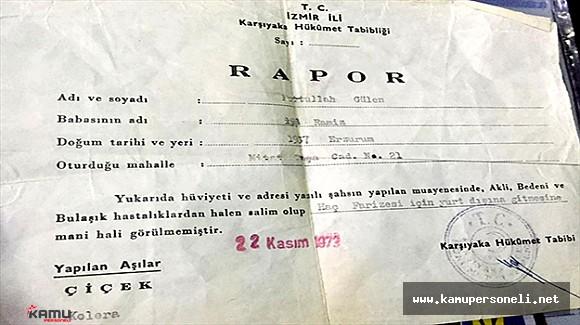 FETÖ Başı Gülen'in 43 Yıllık Raporunu Hatıra Olarak Saklamış